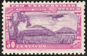 MEXICO C55, 30¢ UNIVERSITY ISSUE. UNUSED, HINGED, OG. VF.