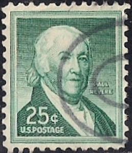 1048 25 cent 1958 Paul Revere, used VF