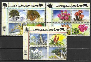 United Nations 1002a, G 516a, V 468a 2010 Endangered Species Block MNH (lib)