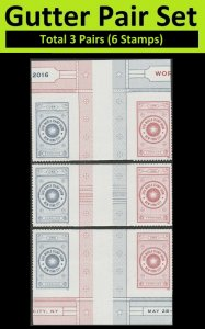 US 5062-5063 World Stamp Show NY forever gutter pair set B-R (6 stamps) MNH 2016
