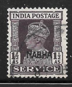 India Nabha O45: 1.5a George VI, used, F-VF