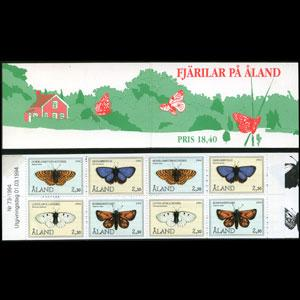 ALAND IS. 1994 - Scott# 81a Booklet-Butterflies NH thin