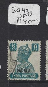 INDIA PATIALA  (P1012B) KGVI  6A  SG 113   VFU
