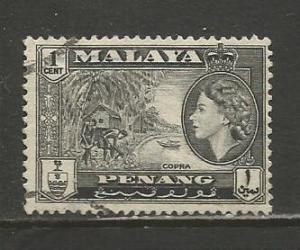 Malaya-Penang    #45  Used  (1957)  c.v. $1.50