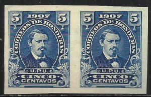 Honduras 1907 Scott# 121 MNG Imperf Pair