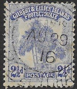 Gilbert & Ellice 11   1911  2 1/2 d  fine used