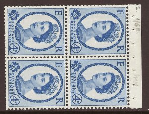 SB112a Wilding booklet pane Violet phos 9.5mm perf type I UNMOUNTED MNT/MNH