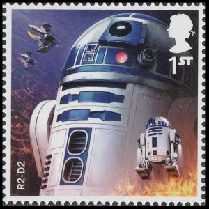 UK Star Wars Characters R2-D2 single (1 stamp) MNH 2017