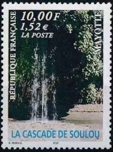 Mayotte 1999 #131 MNH. Waterfall