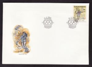 Czechoslovakia #2851 FD tennis postmark on cover