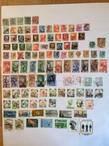 Italy 100+ stamps - Lot G
