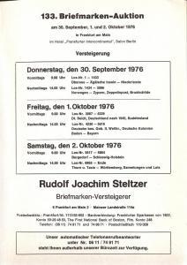 Steltzer: Sale # 146  -  146. Briefmarken-Auktion, Steltz...