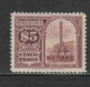 GUATEMALA #173 1921 5p MONUMENT TO PRES. GRANADOS F-VF USED a