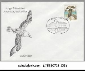 GERMANY - 1991 BIRDS / WATERBIRD DUCK SPECIAL COVER WITH SP. CANCL.