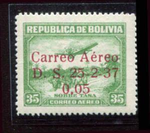 Boliva C52a Carreo 1937 MH  Very Fine CV $30