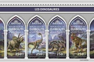 Z08 IMPERF DJB190606a Djibouti 2019 Dinosaurs MNH ** Postfrisch
