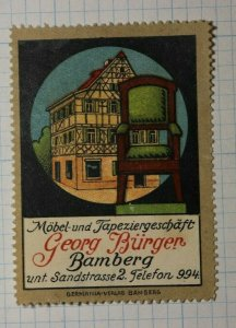 Georg Burger Furniture & Wallpaper Shop German Poster Stamp Ads