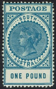 SOUTH AUSTRALIA 1904 QV THICK POSTAGE 1 POUND PERF 12