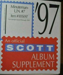 Scott U.N.1997 #7 Minuteman supplement, new unused