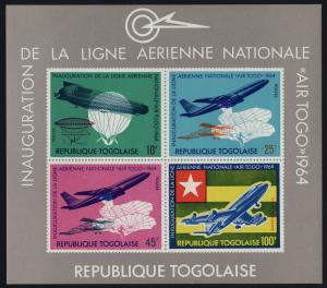 Togo 499a MNH Aircraft, Airships, Flag