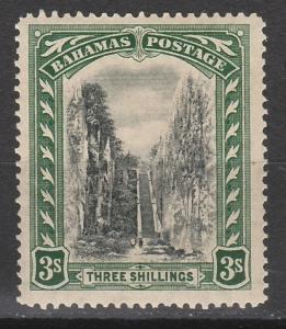 BAHAMAS 1921 QUEEN'S STAIRCASE 3/- WMK MULTI SCRIPT CA