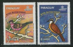 Paraguay 2008 Sc 2865-2866 Birds CV $6.50