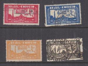 BRAZIL, 1935 International Sample Fair set of 4, used.