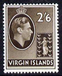 British Virgin islands 1938-47 KG6 2s6d sepia on ord pape...