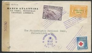 HONDURAS 1945 censor cover La Ceiba to USA.................................59248