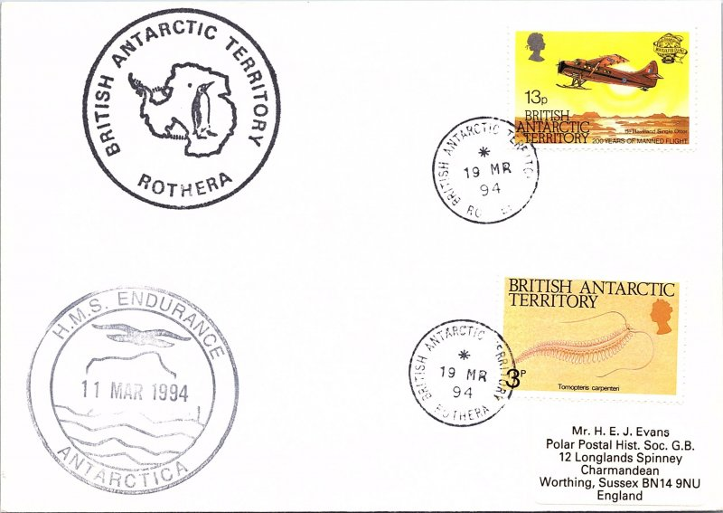 BRITISH ANTARACTIC TERRIORITY ARCTIC ANTARCTIC POLAR CANCEL / CACHET #105