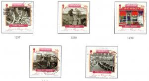 Isle of Man  Sc 1108a-e 2005 Time to Remember stamp set used