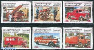 25 FIRE ENGINES  THEMED STAMPS OFF PAPER - ALL DIFFERENT