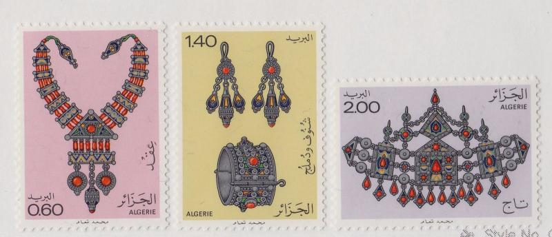 ALGERIA MNH Scott # 652-654 Ancient Jewelry (3 Stamps)