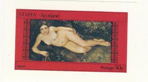 Staffa (Scotland), N/L, Painting - Nudes Imperf S/S, MNH