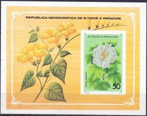 Sao Tome and Principe. 1979. bl33. Flora flowers. MNH.