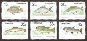 Zimbabwe - Scott #588-593 - MNH - SCV $8.00