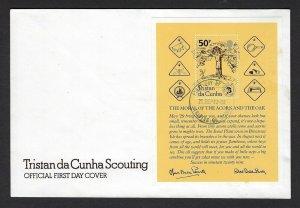 1982 Scouts Tristan da Cunha 75th anniversary SS FDC BadenPowell
