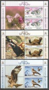 EUROPA CEPT WILDLIFE ARTSAKH KARABAKH ARMENIA 2021 BL OF 4 LABELS MNH R2021942