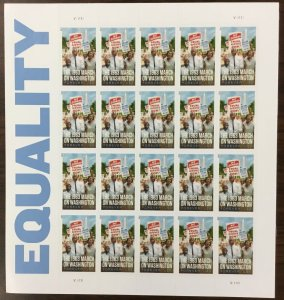 4804    March on Washington, Equality    Forever Sheet of 20  FV $11 Issued 2013