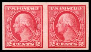 momen: US Stamps #459 Pair Mint OG NH Weiss Cert XF-SUP