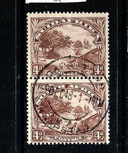 SOUTH AFRICA 1930-45  4d  PICTORIAL PAIR  FU  SG 46c