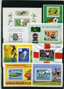 SOCCER WORLD CUP SMALL COLLECTION SET OF 8 S/S MNH