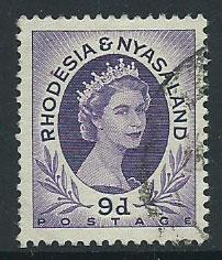 Rhodesia & Nyasaland SG 8 VFU