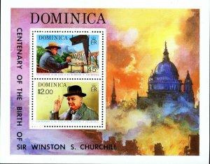 Dominica Stamp Sc#410a - 1974 - S/Sheet - Sir Winston Churchill