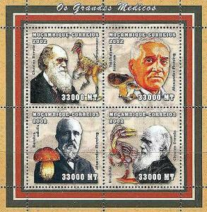 Mozambique - Scientists & Nature - 4 Stamps Sheet 1619