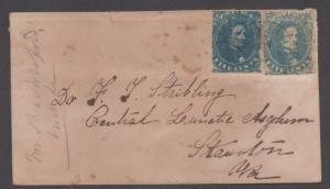 **CSA Cover, SC# 4 x2,  Different Shades, Charlottesville, VA, 11/1/1862