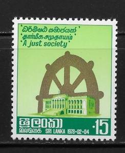 Sri Lanka 528 Parliament and Wheel of Life NH