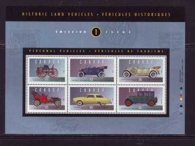 Canada Sc 1490 1993 Historic Old Cars stamp sheet mint NH
