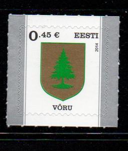 Estonia Sc 753 2014 Voru Arms stamp mint NH