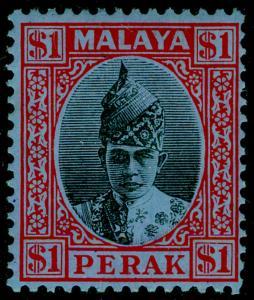 MALAYSIA - Perak SG119, $1 black & red/blue, M MINT. Cat £150.